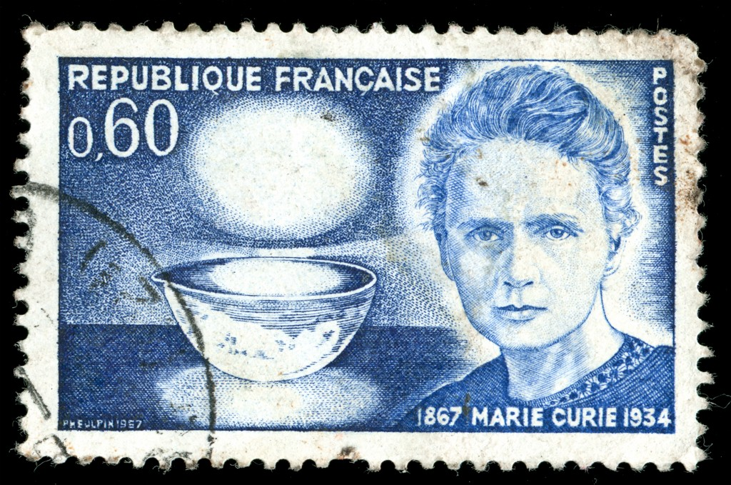 stamp Marie Curie