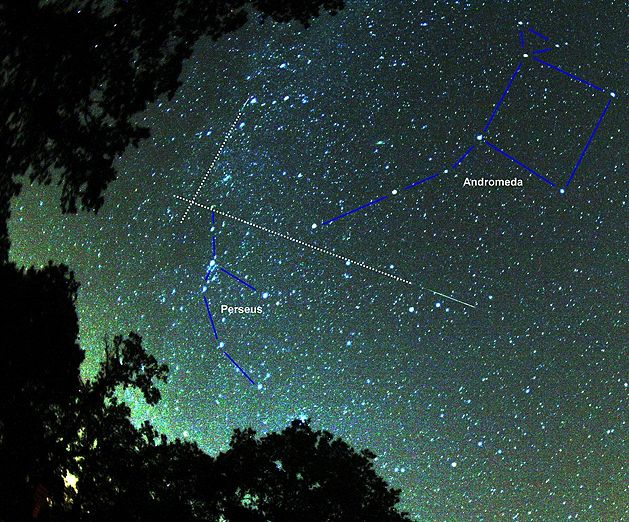 Radiant of the Perseids meteor shower