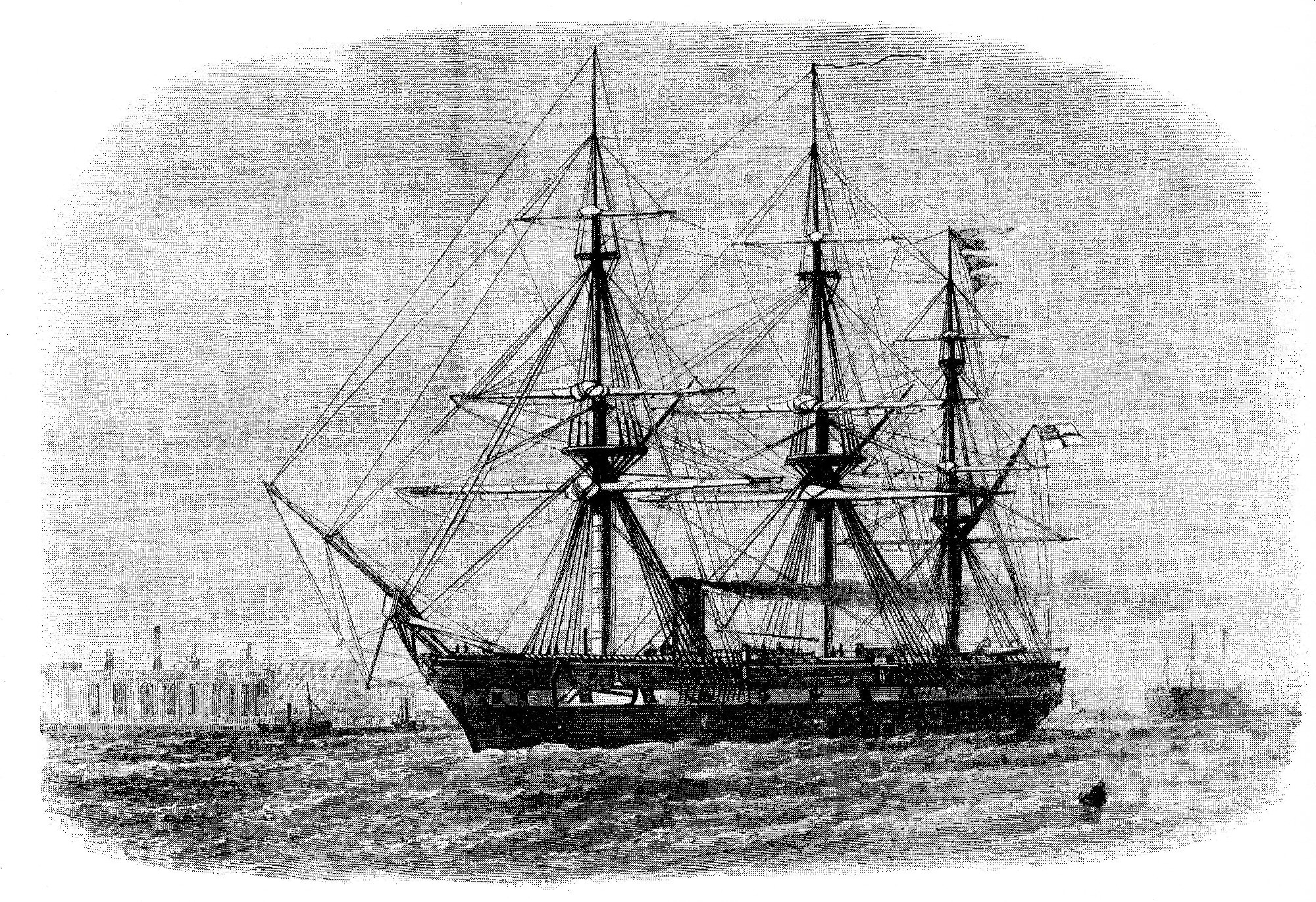 HMS Challenger (launched 1858).