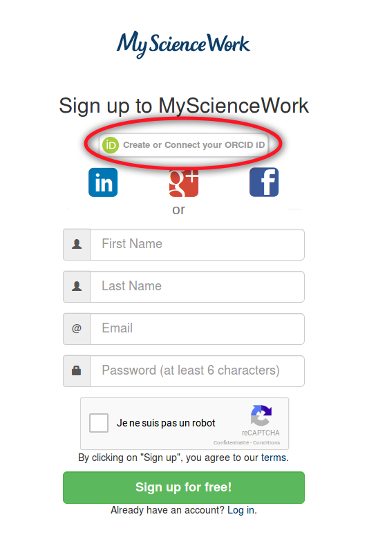 Use ORCID for your registration