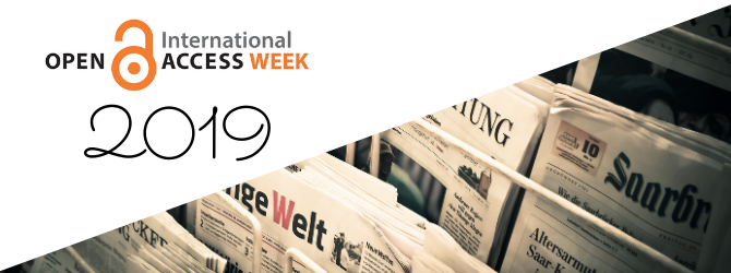 Open Access Week 2019:   We made it, and it was perfect!