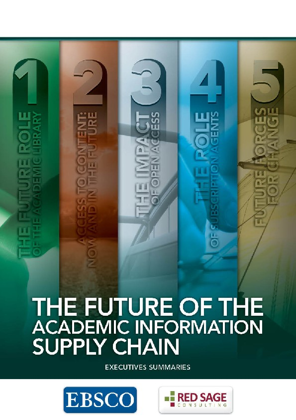 The future Of the academic information supply chain