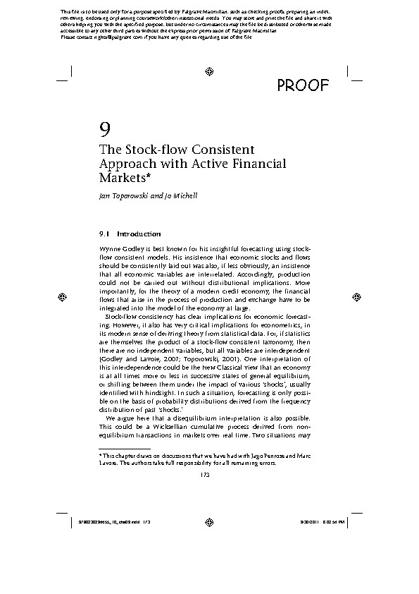 The Stock-Flow Consistent Approach with Active Financial Markets